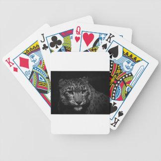 Cartas De Baralho neve-leopardo
