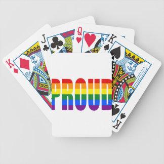 Cartas De Baralho ORGULHOSO (arco-íris)