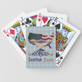 Cartas De Baralho Plataforma de cartão escocesa americana da