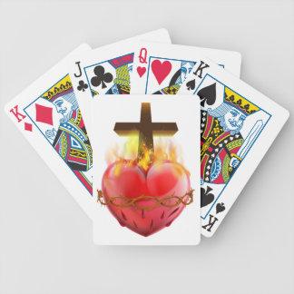 Cartas De Baralho Símbolo sagrado do cristão do coração
