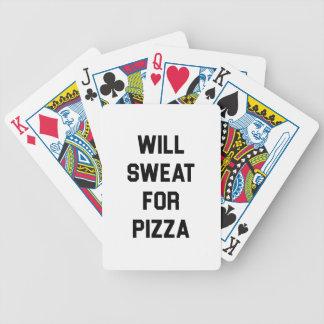 Cartas De Baralho Suará para a pizza