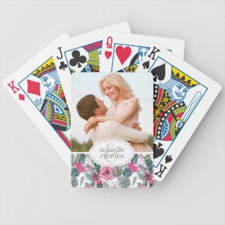 Cartas De Baralho Succulent & floral boémios - foto do casamento