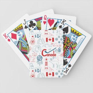 Cartas De Baralho Teste padrão dos símbolos de Canadá |