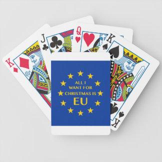 Cartas De Baralho Tudo que eu quero para o Natal é UE