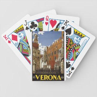 Cartas De Baralho Viagem de Verona do vintage