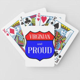 Cartas De Baralho Virginian e orgulhoso