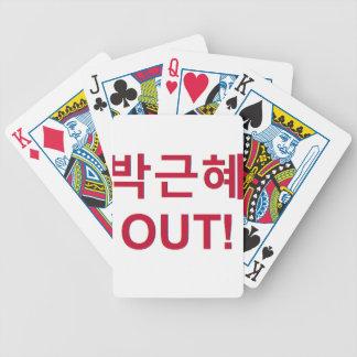 Cartas De Baralhos 박근혜 PARA FORA - Park Geun-hye PARA FORA!