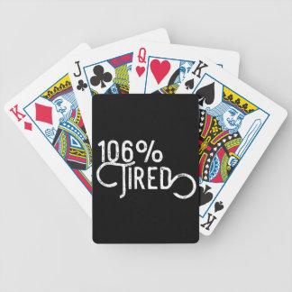 Cartas De Baralhos 106% cansado