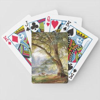 Cartas De Baralhos Cartões de jogo do lago tree do parque de animais