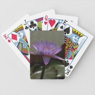 Cartas De Baralhos Cartões de jogo roxos de Lotus Waterlily