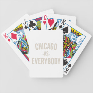 Cartas De Baralhos Chicago contra todos