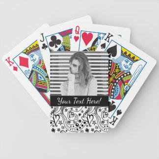 Cartas De Baralhos Corações personalizados na moda e teste padrão do