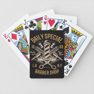 Cartas De Baralhos Corte e Shave especiais diários da barbearia