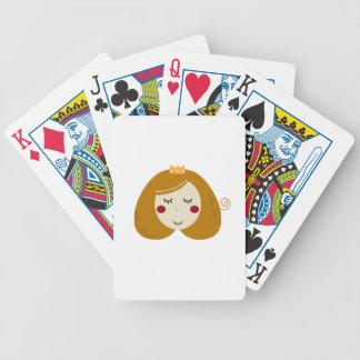 Cartas De Baralhos Design pequeno da princesa no branco