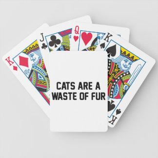 Cartas De Baralhos Desperdício dos gatos da pele