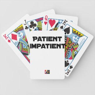 Cartas De Baralhos DOENTE IMPACIENTE - Jogos de palavras - François