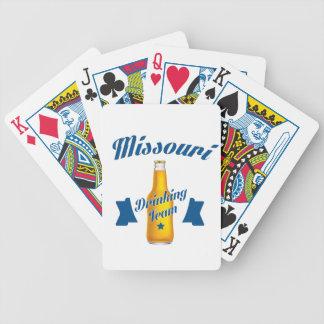 Cartas De Baralhos Equipe do bebendo de Missouri