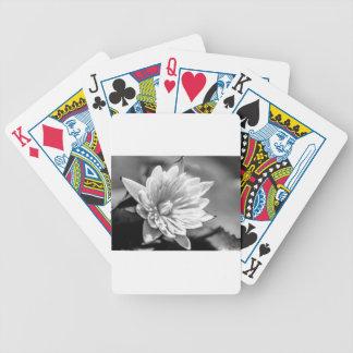 Cartas De Baralhos Flor preto e branco