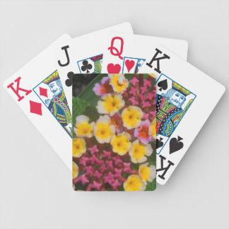 Cartas De Baralhos Flores tropicais amarelas pequenas com botões