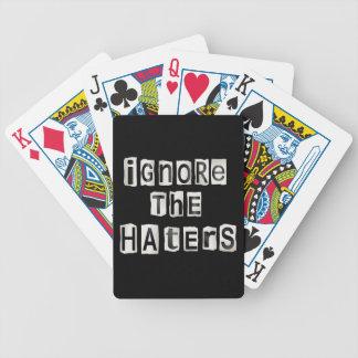 Cartas De Baralhos Ignore os haters.