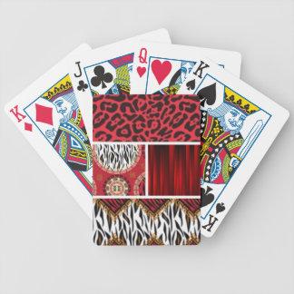 Cartas De Baralhos Impressão e colagem animais vermelhos dos padrões