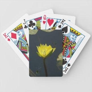 Cartas De Baralhos Lotus amarelo Waterlily & cartões de jogo das
