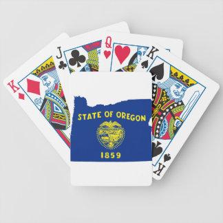 Cartas De Baralhos Mapa da bandeira de Oregon