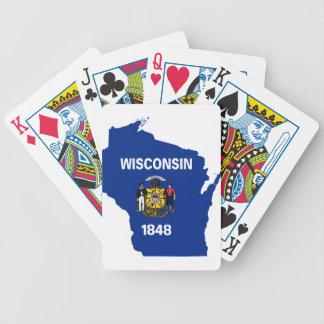 Cartas De Baralhos Mapa da bandeira de Wisconsin