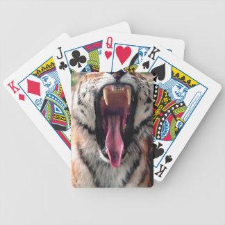 Cartas De Baralhos Maxilas do rolamento do tigre dos alugueres