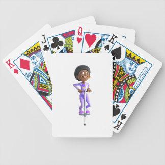 Cartas De Baralhos Menina do afro-americano dos desenhos animados que