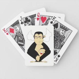 Cartas De Baralhos Não ouça nenhum cartão de jogo mau