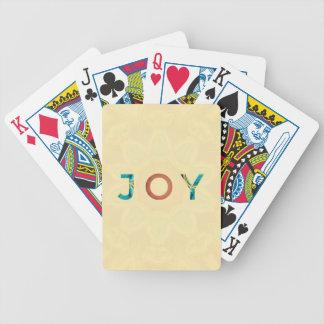Cartas De Baralhos Natal moderno 'Joy do fundo de creme