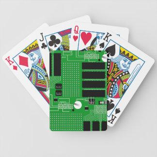 Cartas De Baralhos O conselho de circuito verde