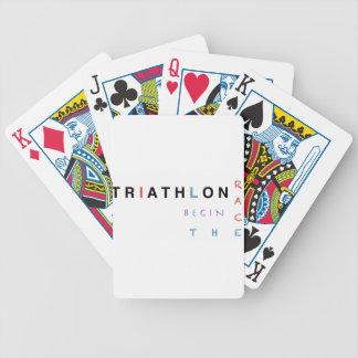 Cartas De Baralhos O Triathlon deixou a raça começar