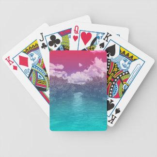 Cartas De Baralhos Oceano azul cor-de-rosa Trippy da chave dos