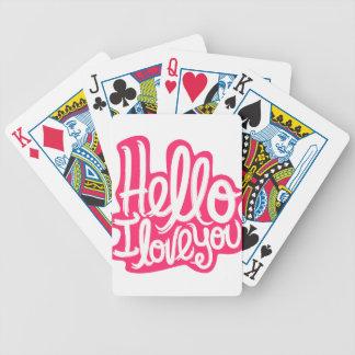 Cartas De Baralhos Olá! eu te amo