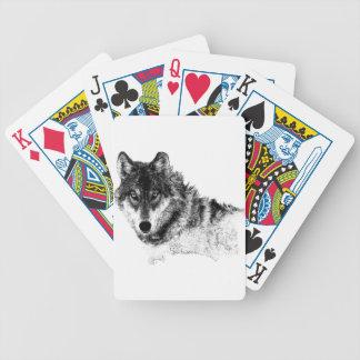 Cartas De Baralhos Olhos inspirados brancos pretos do lobo