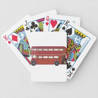 Cartas De Baralhos Ônibus do vermelho do autocarro de dois andares