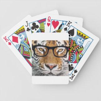 Cartas De Baralhos Tigre nos vidros