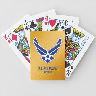 Cartas De Baralhos U.S. Cartões de jogo aposentados força aérea da