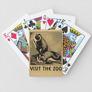 Cartas De Baralhos Visite o jardim zoológico