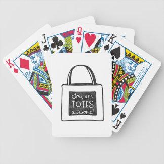 Cartas De Baralhos Você é design carimbado impressionante dos bolsas