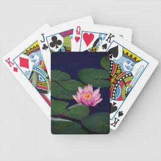 Cartas De Baralhos Waterlily cor-de-rosa Lotus, cartões de jogo