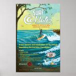 """Cartaz 11"""" do @Water do surf x 17"""" Pôsteres"""