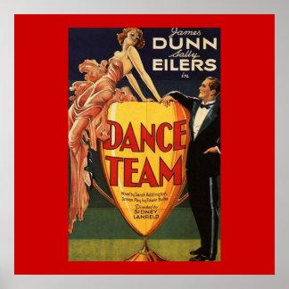 Cartaz cinematográfico 1932 do vintage da equipe d poster