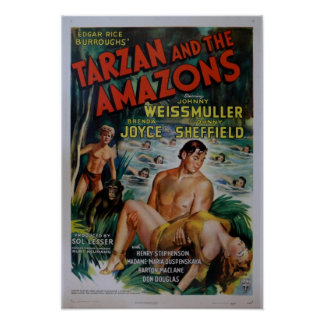 Cartaz cinematográfico de Tarzan do vintage Poster