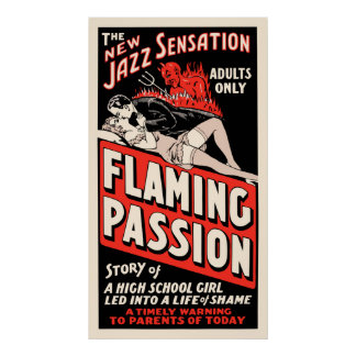 "Cartaz cinematográfico do vintage - ""paixão flamej poster"