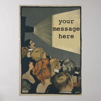 Cartaz cinematográfico do vintage poster