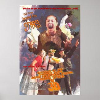 Cartaz cinematográfico estrangeiro horrível dos mo poster