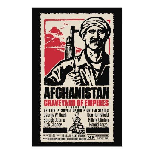 Cartaz cinematográfico pacífico de Afeganistão Modelo De Panfleto